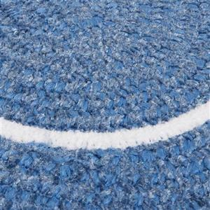 Colonial Mills Silhouette 2-ft x 10-ft Oval Indoor Blue Ice Area Rug Runner