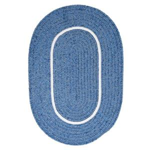 Colonial Mills Silhouette 4-ft x 4-ft Round Runner Indoor Blue Ice Area Rug