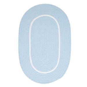 Colonial Mills Silhouette 2-ft x 8-ft Oval Runner Indoor Sky Blue Area Rug