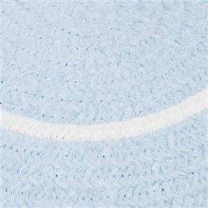 Colonial Mills Silhouette 4-ft x 4-ft Round Runner Indoor Sky Blue Area Rug