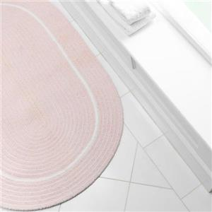 Colonial Mills Silhouette 2-ft x 10-ft Oval Runner Indoor Blush Pink Area Rug