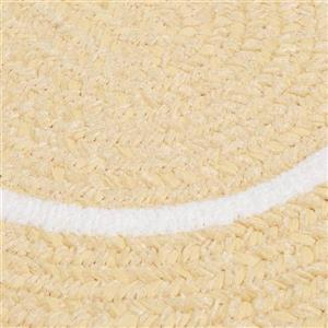 Colonial Mills Silhouette 4-ft x 4-ft Round Runner Indoor Pale Banana Area Rug