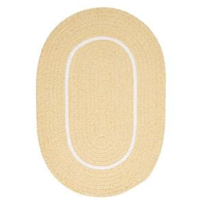 Colonial Mills Silhouette 5-ft x 8-ft Oval Runner Indoor Pale Banana Area Rug
