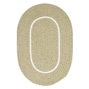 Colonial Mills Silhouette 8-ft x 8-ft Round Runner Indoor Celery Area Rug