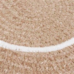 Colonial Mills Silhouette 2-ft x 8-ft Oval Runner Indoor Sand Area Rug