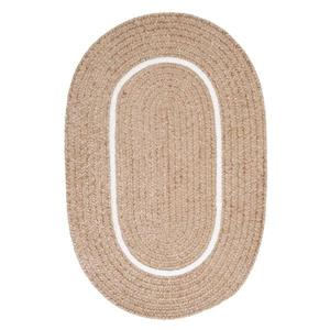 Colonial Mills Silhouette 2-ft x 12-ft Oval Runner Indoor Sand Area Rug