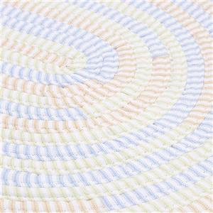 Colonial Mills Ticking Stripe Oval 6-ft Round Handcrafted Starlight Indoor Area Rug