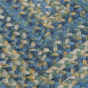 Colonial Mills Ridgevale 2-ft x 10-ft Whipple Blue Handcrafted Area Rug Runner
