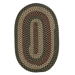 Colonial Mills Brook Farm 8-ft x 11-ft Winter Green Oval Area Rug