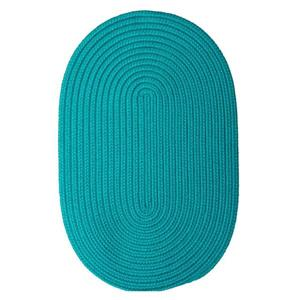Colonial Mills Boca Raton 4-ft x 6-ft Turquoise Oval Area Rug