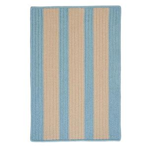 Colonial Mills Boat House 2-ft x 12-ft Light Blue Area Rug