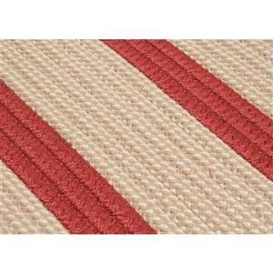 Colonial Mills Boat House 5-ft x 8-ft Rust Red Area Rug
