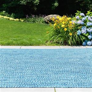Colonial Mills Catalina 2-ft x 6-ft Blue Wave Area Rug Runner