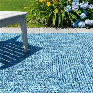 Colonial Mills Catalina 2-ft x 10-ft Blue Wave Area Rug Runner