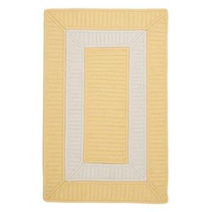 Colonial Mills Rope Walk 4-ft x 4-ft Yellow Area Rug