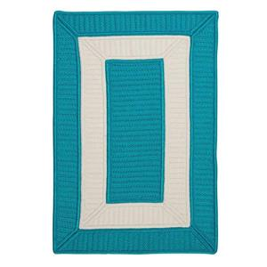Colonial Mills Rope Walk 4-ft x 6-ft Turquoise Area Rug