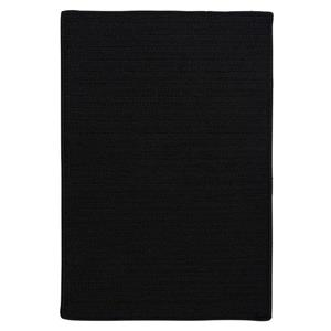 Colonial Mills Simply Home 2-ft x 10-ft Black Solid Area Rug Runner