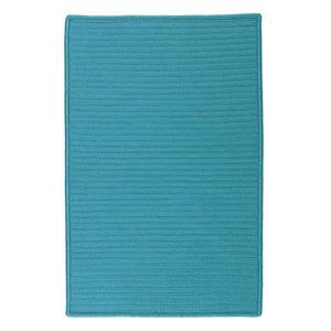 Colonial Mills Simply Home Solid 2-ft x 12-ft Turquoise Area Rug