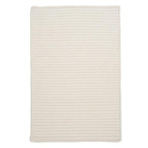Colonial Mills Simply Home Solid 2-ft x 6-ft White Area Rug