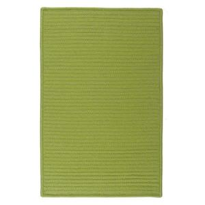 Colonial Mills Simply Home Solid 2-ft x 6-ft Bright Green Area Rug Runner