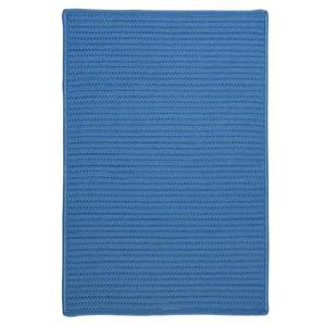 Colonial Mills Simply Home Solid 2-ft x 10-ft Blue Ice Area Rug Runner