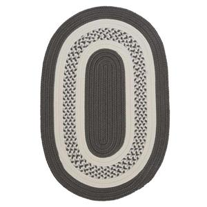 Colonial Mills Crescent 2-ft x 12-ft Grey Area Rug