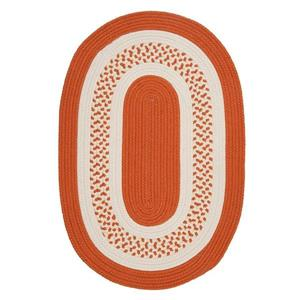 Colonial Mills Crescent 7-ft x 9-ft Orange Oval Area Rug