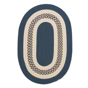 Colonial Mills Crescent 4-ft Lake Blue Round Area Rug