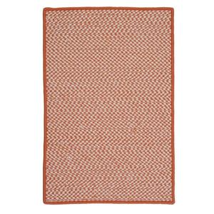 Colonial Mills Outdoor Houndstooth Tweed 8-ft Orange Square Area Rug