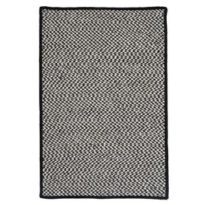 Colonial Mills Outdoor Houndstooth Tweed 4-ft x 4-ft Black Area Rug