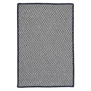 Colonial Mills Outdoor Houndstooth Tweed 2-ft x 10-ft Navy Area Rug Runner