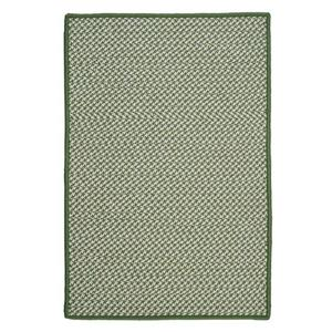 Colonial Mills Outdoor Houndstooth Tweed 4-ft x 4-ft Leaf Green Area Rug