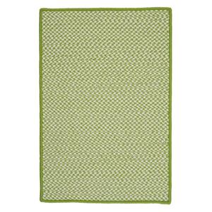 Colonial Mills Outdoor Houndstooth Tweed 2-ft x 8-ft Lime Area Rug