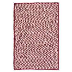 Colonial Mills Outdoor Houndstooth Tweed 4-ft Sangria Square Area Rug