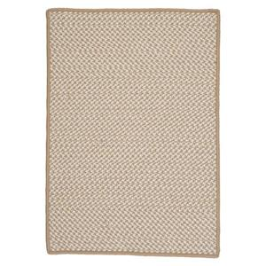 Colonial Mills Outdoor Houndstooth Tweed 2-ft x 12-ft Cuban Sand Area Rug