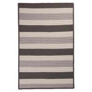 Colonial Mills Stripe It 2-ft x 6-ft Silver Area Rug Runner