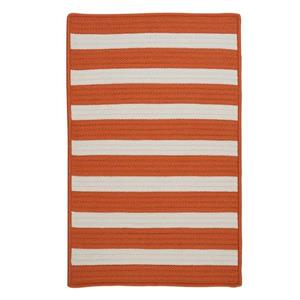 Colonial Mills Stripe It 8-ft Tangerine Square Area Rug