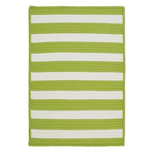 Colonial Mills Stripe It 4-ft x 4-ft Bright Lime Area Rug