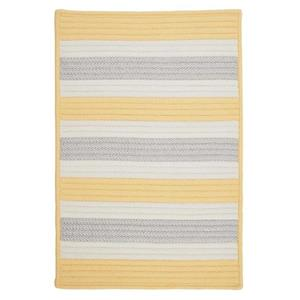 Colonial Mills Stripe It 6-ft Yellow Shimmer Square Area Rug
