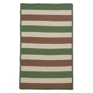 Colonial Mills Stripe It 4-ft Moss-Stone Square Area Rug