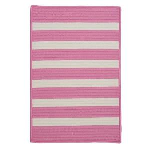 Colonial Mills Stripe It 6-ft x 6-ft Bold Pink Area Rug