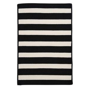 Colonial Mills Stripe It 2-ft x 12-ft Black White Area Rug
