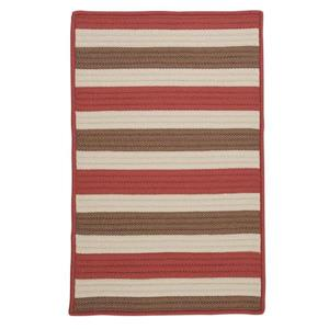 Colonial Mills Stripe It 4-ft Terracotta Square Area Rug
