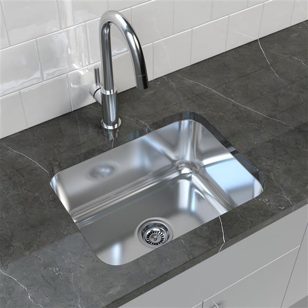 Stainless Steel Undermount Kitchen Sink 17 75 X 23