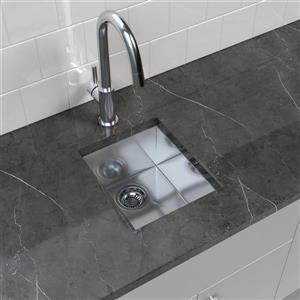 """Cantrio Koncepts Stainless Steel Undermount Kitchen Sink - 13.25"""" x 15.75"""""""