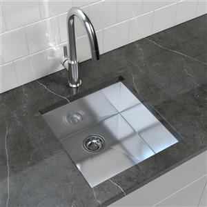"""Cantrio Koncepts Stainless Steel Undermount Kitchen Sink - 19"""" x 20"""""""