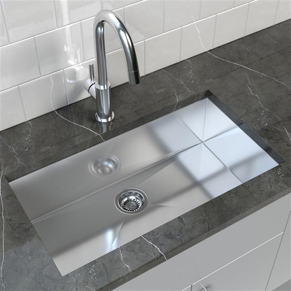 Cantrio Koncepts Stainless Steel Undermount Kitchen Sink 32 X 18