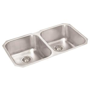 Wessan Stainless Steel Double Undermount Sink - 18-in x 31-in x 7-in