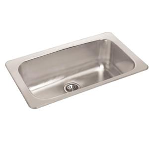 Wessan Stainless Steel Drop-In Sink - 18-in x 31-in x 8-in