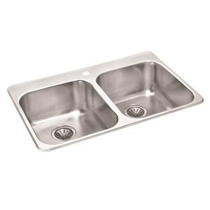 Wessan Stainless Mirrored Double Drop-In Sink - 20 1/2-in x 31-in x 7-in